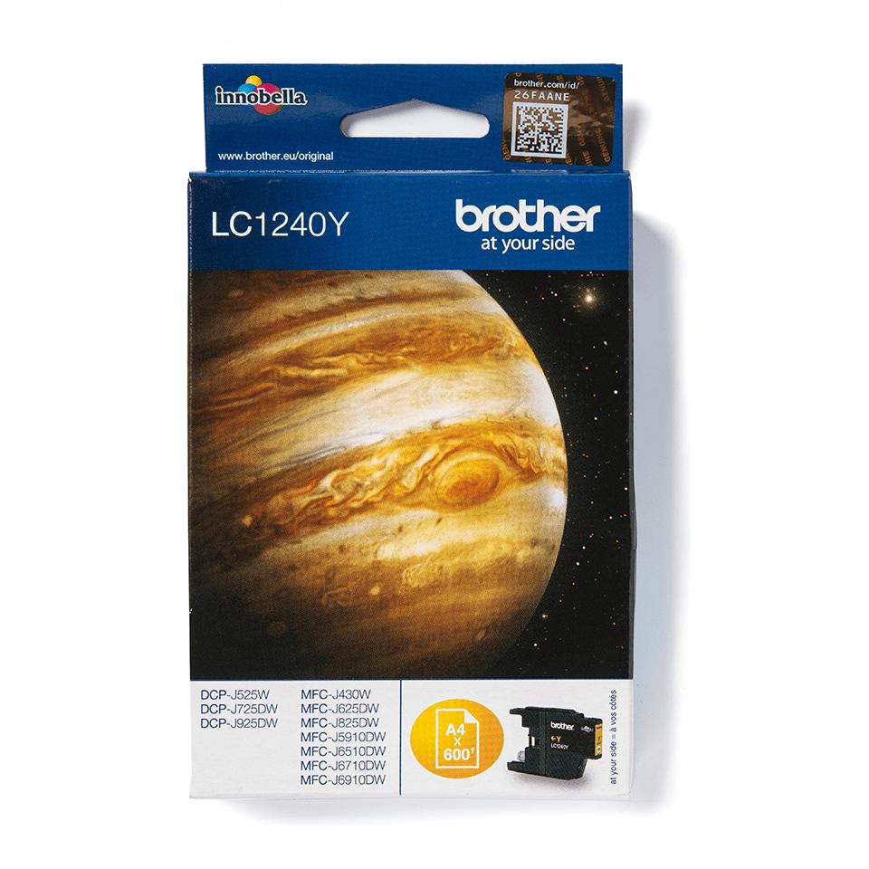 Original Brother LC1240Y høykapasitet blekkpatron – gul