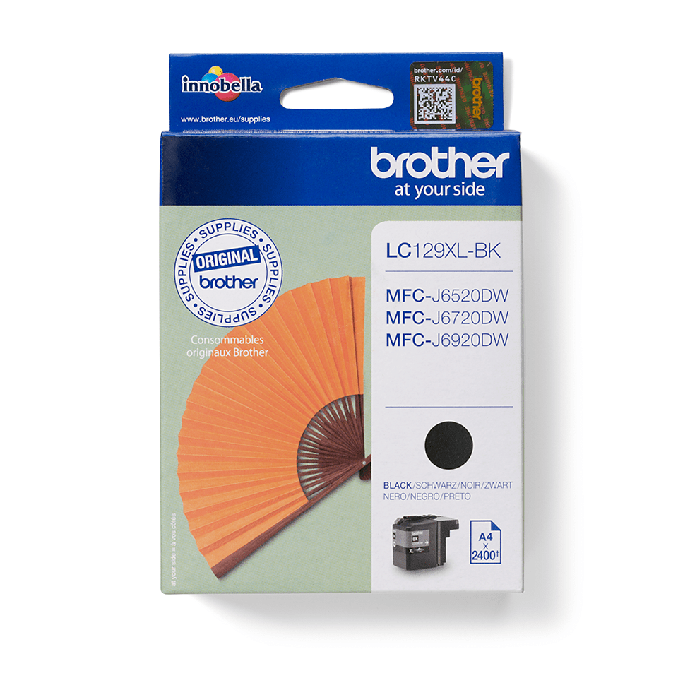 Brother original  LC129XLBK sort XL høykapasitet blekkpatron
