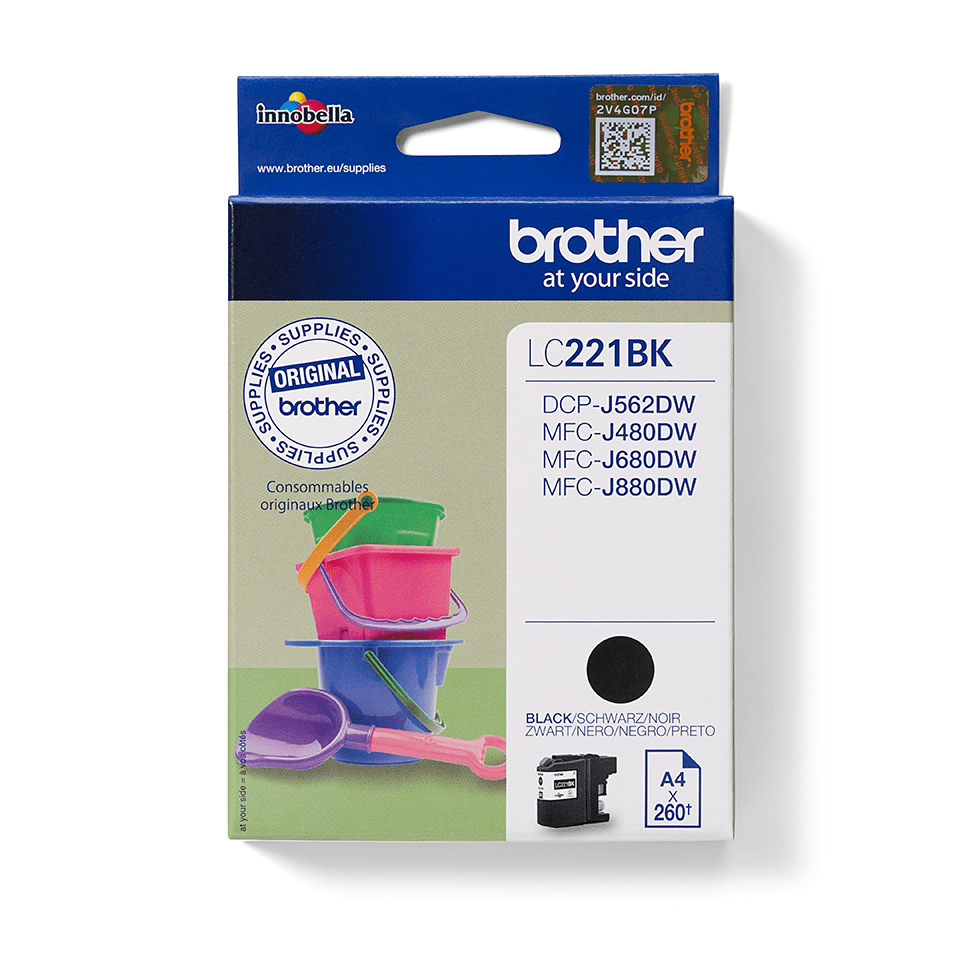 Original Brother LC221BK blekkpatron – sort