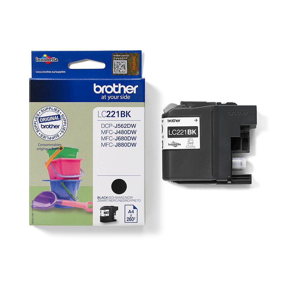 Original Brother LC221BK blekkpatron – sort 2