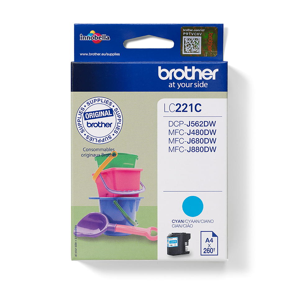 Original Brother LC221C blekkpatron – cyan
