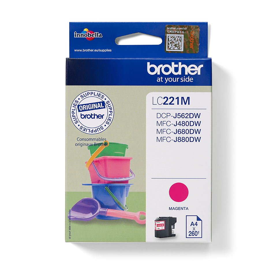 Original Brother LC221M blekkpatron - magenta