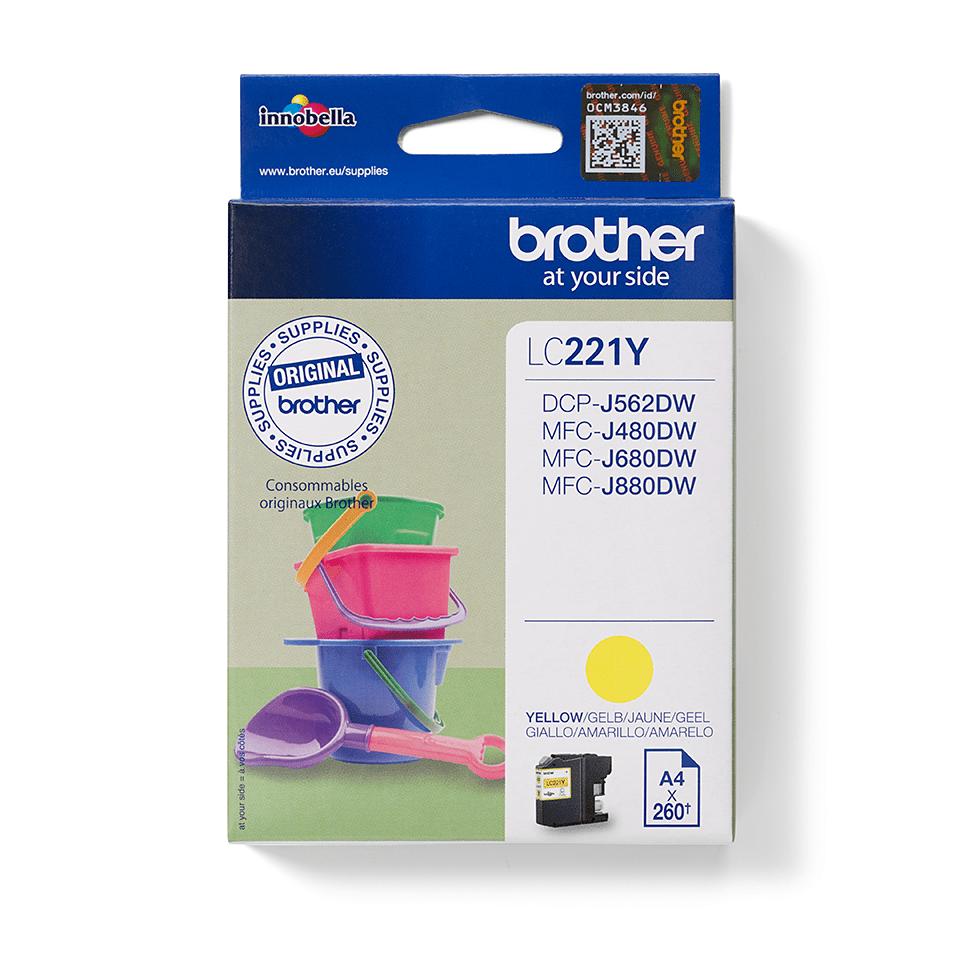 Original Brother LC221Y  blekkpatron - gul