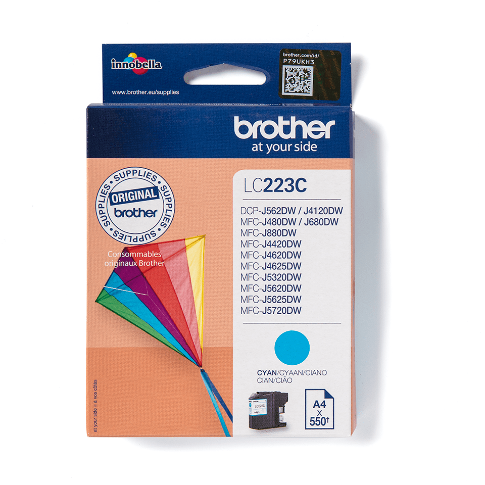 Brother original LC223C cyan blekkpatron 2