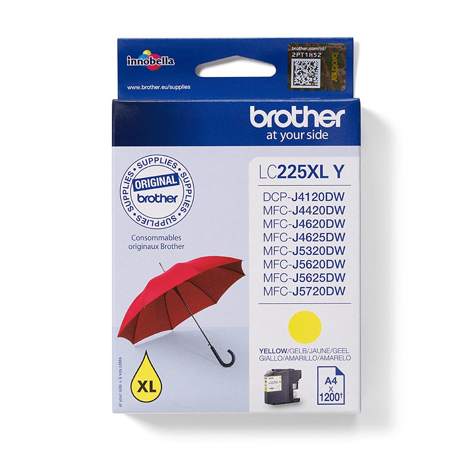 Original Brother LC225XLY XL-høykapasitet blekkpatron – gul