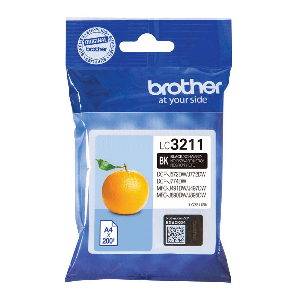 Brother original LC3211BK blekkpatron - sort 2