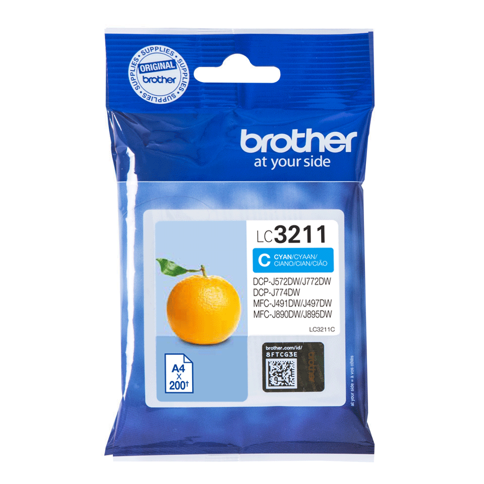 Brother original LC3211C blekkpatron - cyan