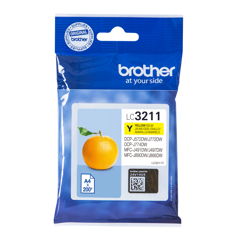 Brother original LC3211Y blekkpatron - gul