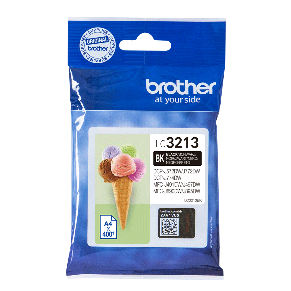 Brother original LC3213BK høykapasitet blekkpatron - sort