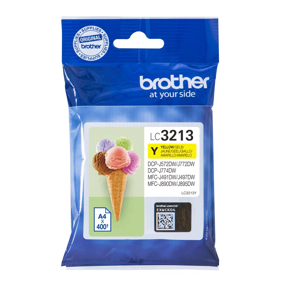 Brother original LC3213Y gul høykapasitet blekkpatron 2