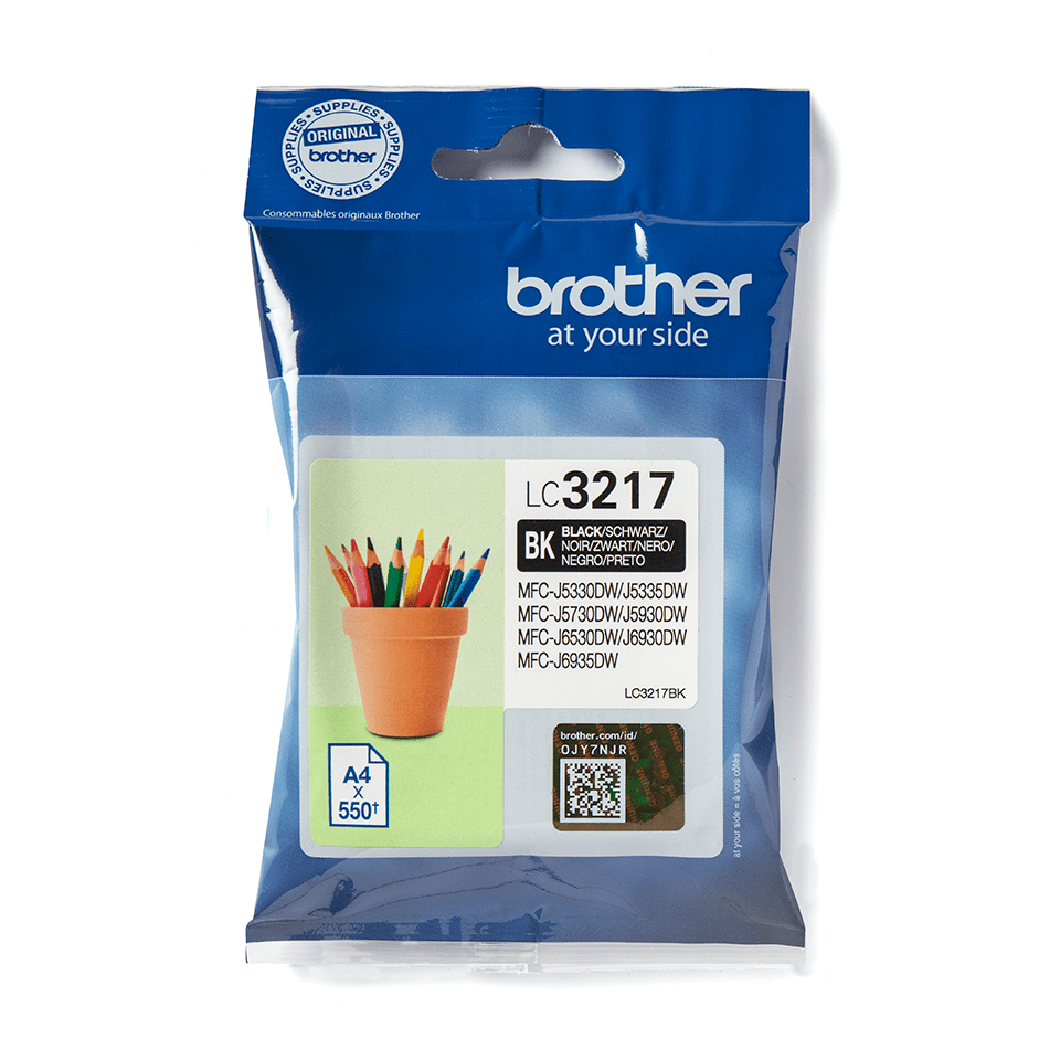 Original Brother LC3217BK blekkpatron – sort
