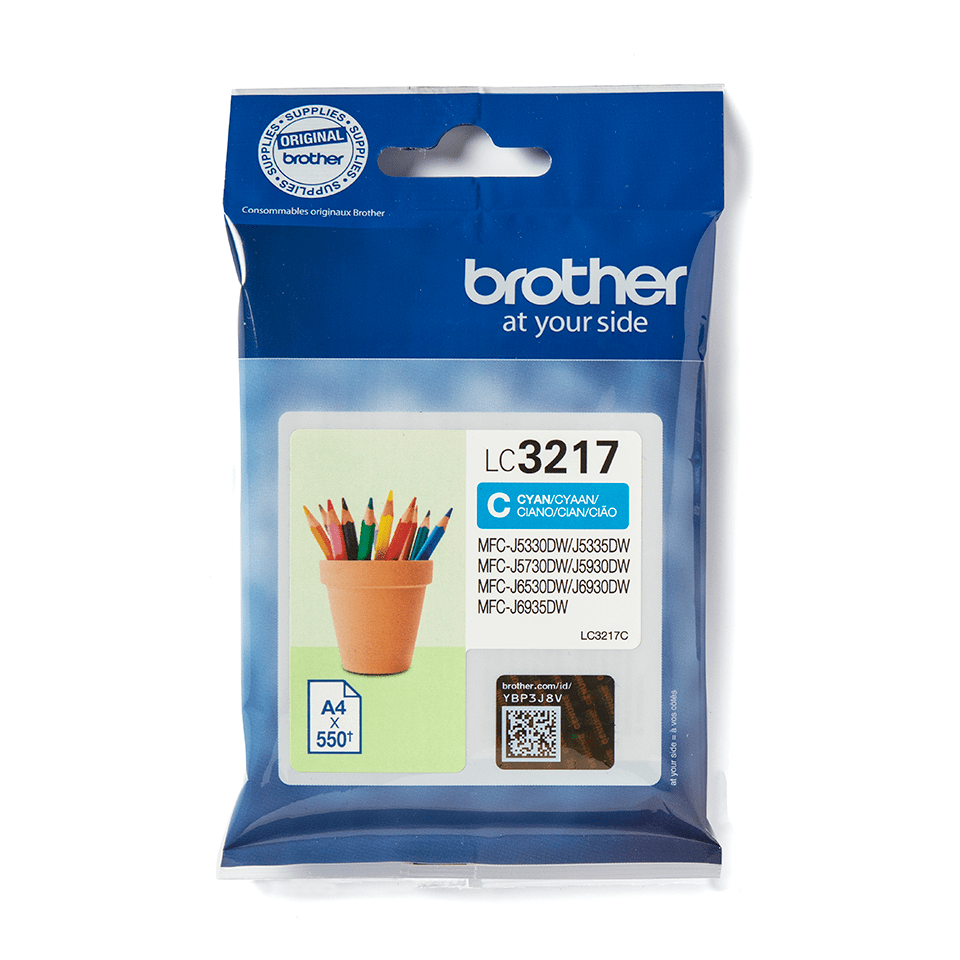 Brother original LC3217C cyan blekkpatron