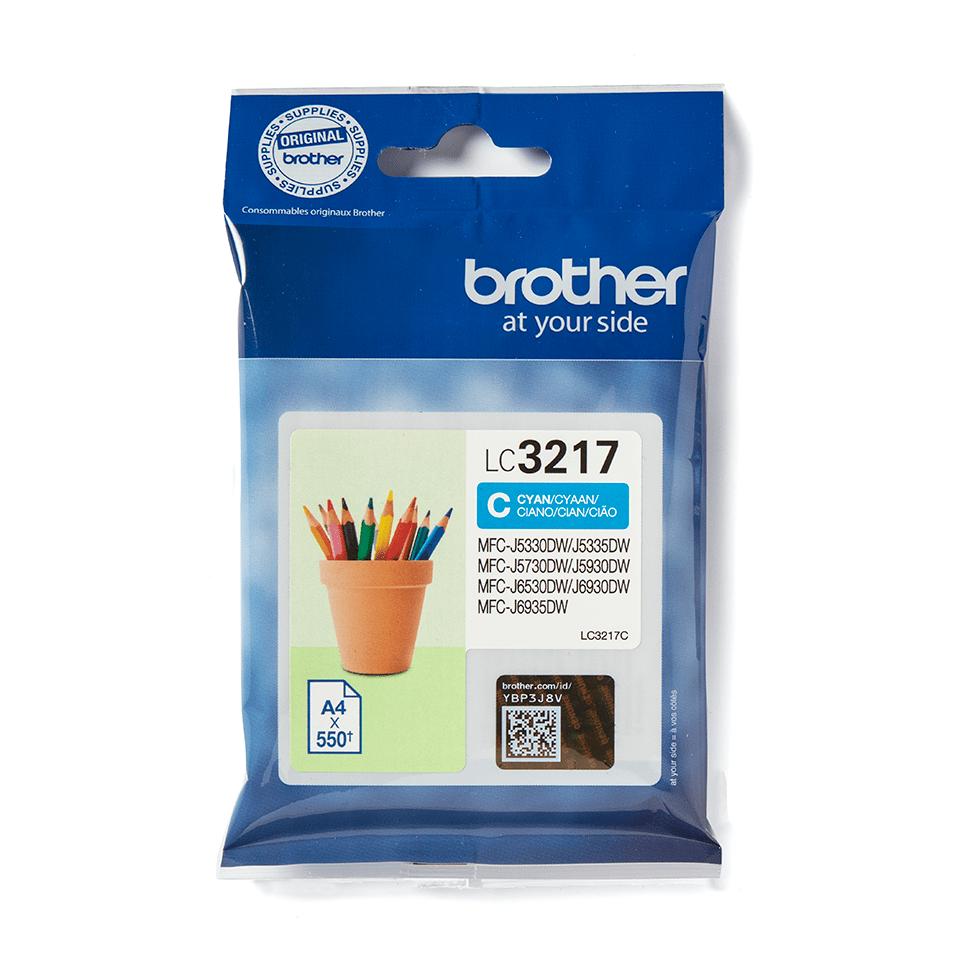 Brother original LC3217C cyan blekkpatron 2
