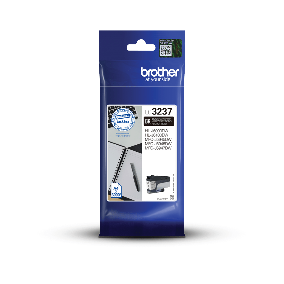 Brother original LC3237BK blekkpatron - sort