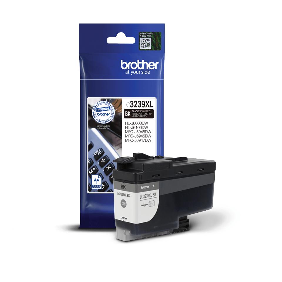Brother original LC3239XLBK XL høykapasitet blekkpatron - sort 2