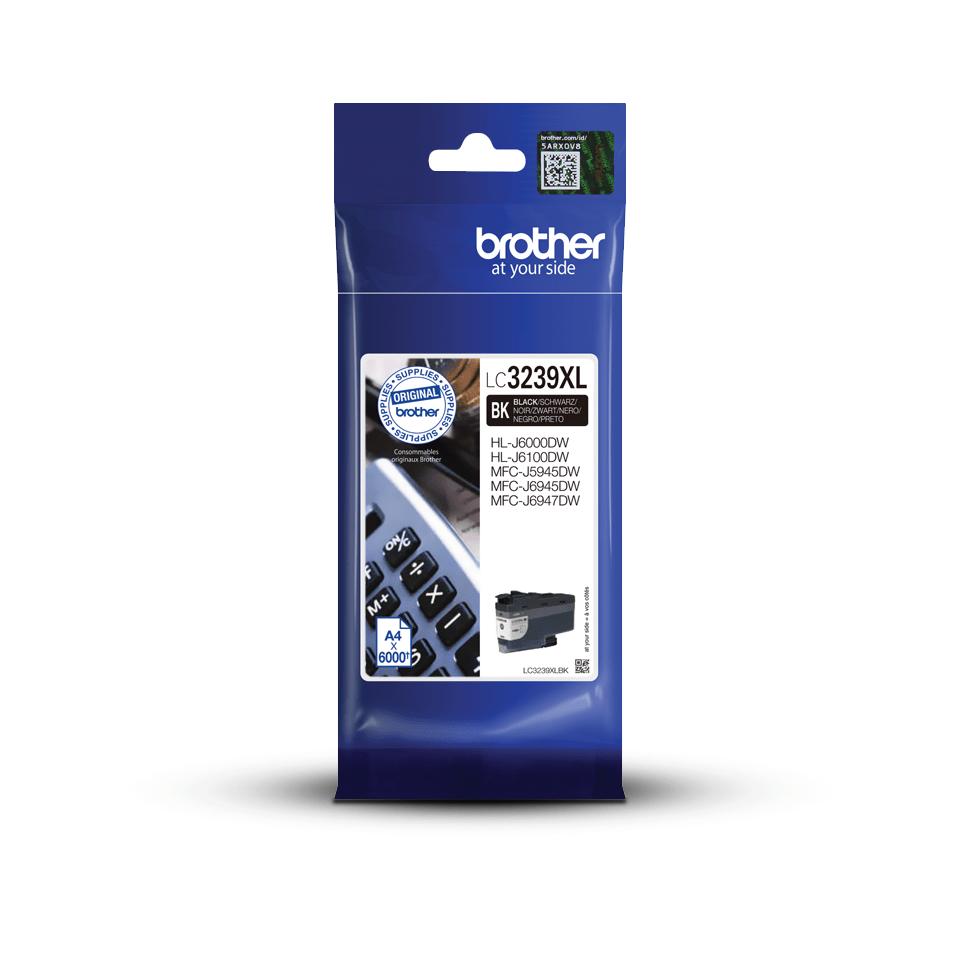 Brother original LC3239XLBK XL høykapasitet blekkpatron - sort