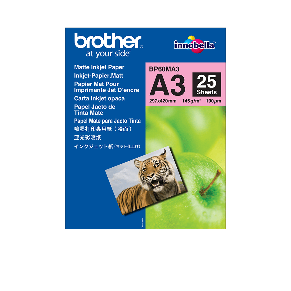 Brother original BP60MA3 matt A3 blekkpapir