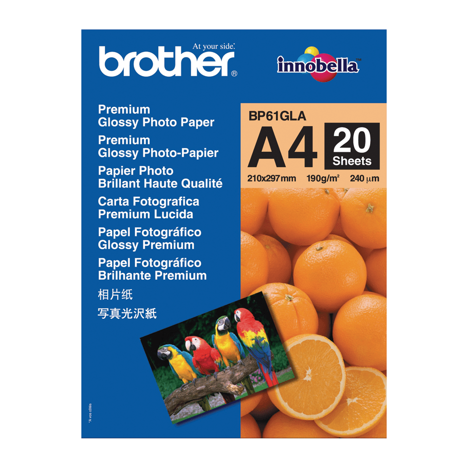 Originalt Brother BP61GLA glanset A4 fotopapir