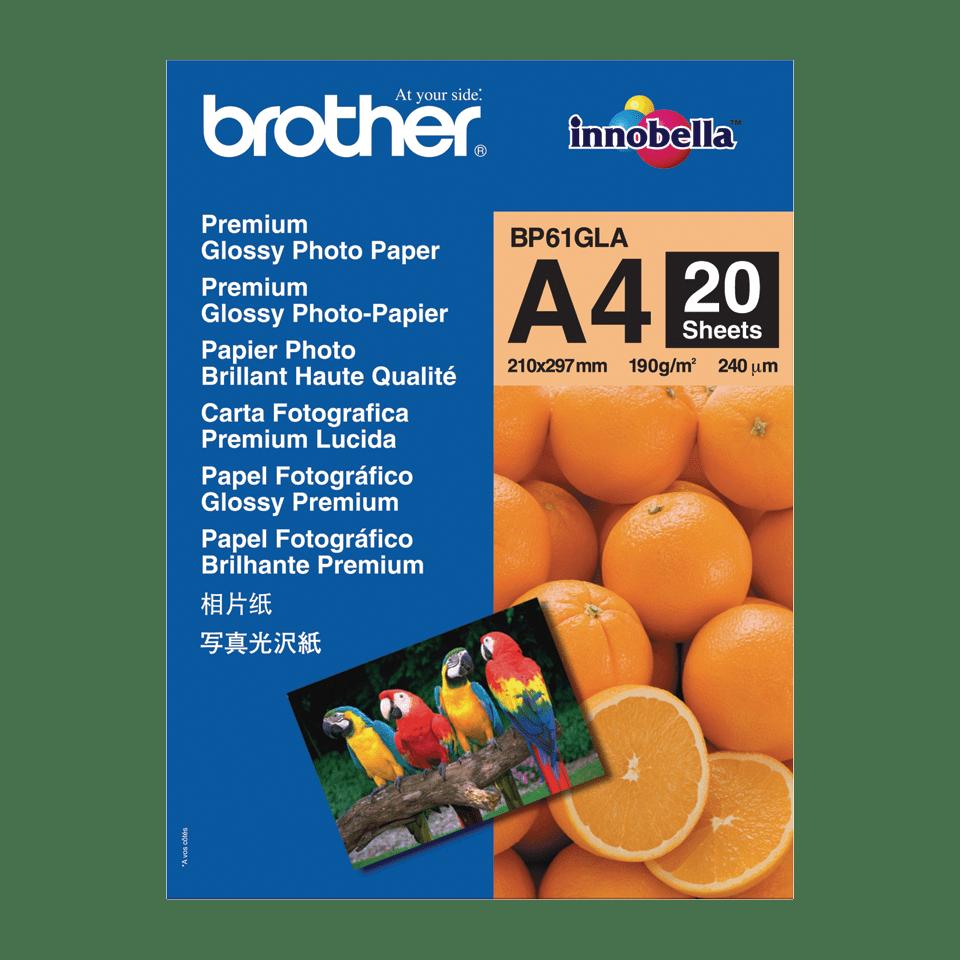 Originalt Brother BP61GLA glanset A4 fotopapir