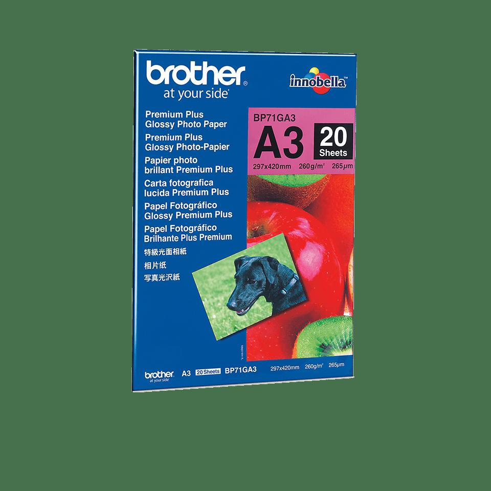 Originalt Brother BP71GA3 glanset fotopapir A3