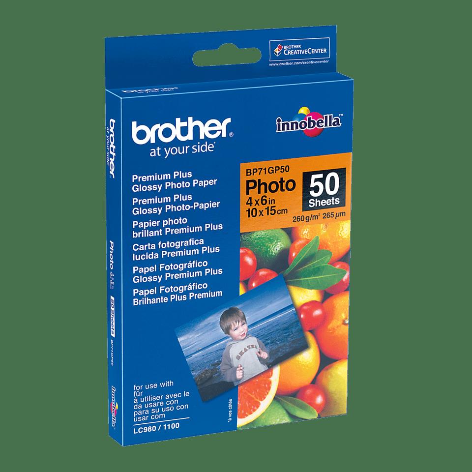 Originalt Brother BP71GP50 glanset fotopapir 10 cm x 15 cm