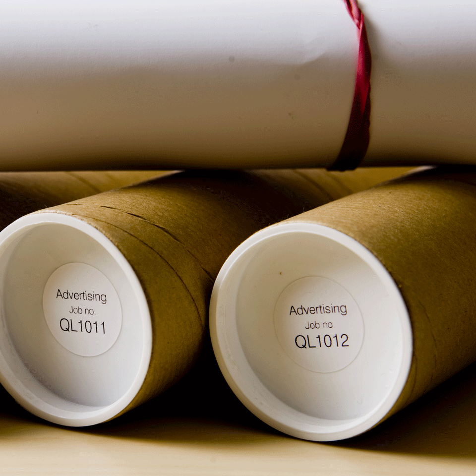 Original Brother DK11219 runde etiketter – sort på hvit, 12 mm diameter 2