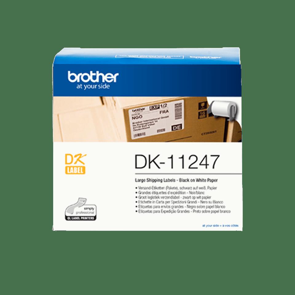 Brother original DK11247 store adresseetiketter i fast format, 103 mm x 164 mm - sort på hvit 3