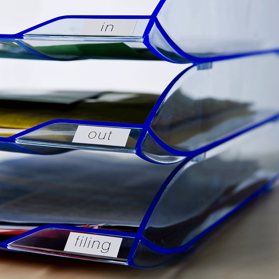 Original Brother DK22214  taperull i papir i løpende lengde – sort på hvit, 12 mm bred 2