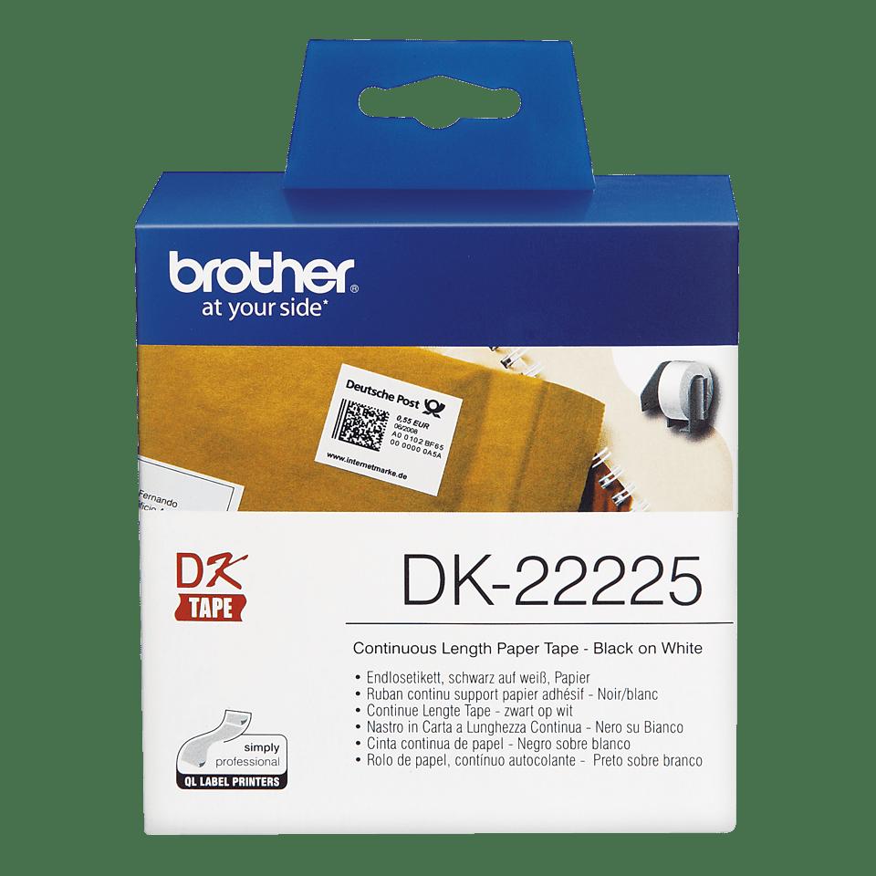 Original Brother DK22225 taperull i papir i løpende lengde – sort på hvit, 38 mm bred 2