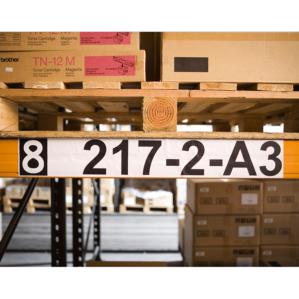 Original Brother DK22243 taperull i papir i løpende lengde – sort på hvit, 102 mm bred 2