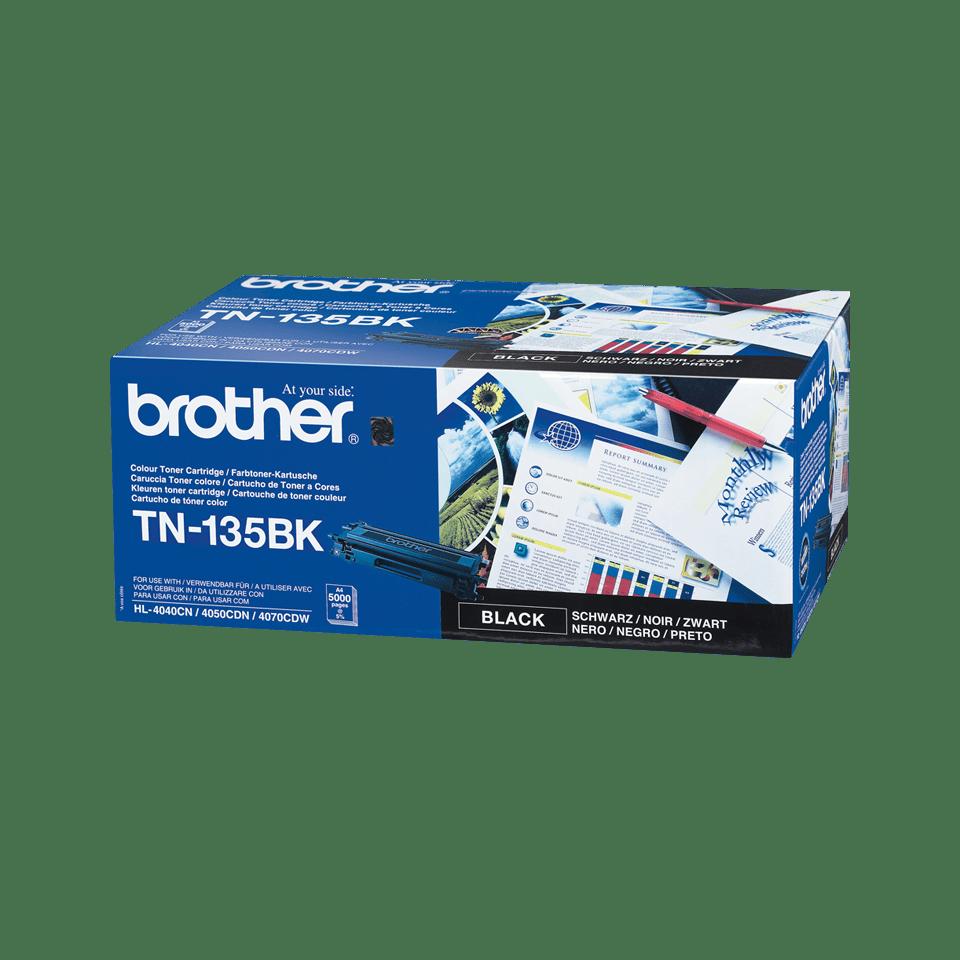 Original Brother TN135BK høykapasitetstoner – sort