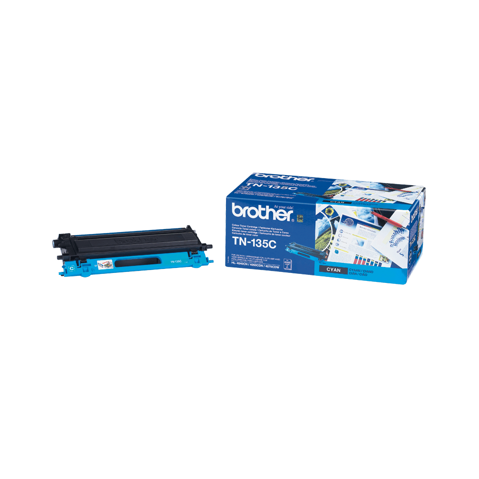Original Brother TN135C høykapasitet toner – cyan