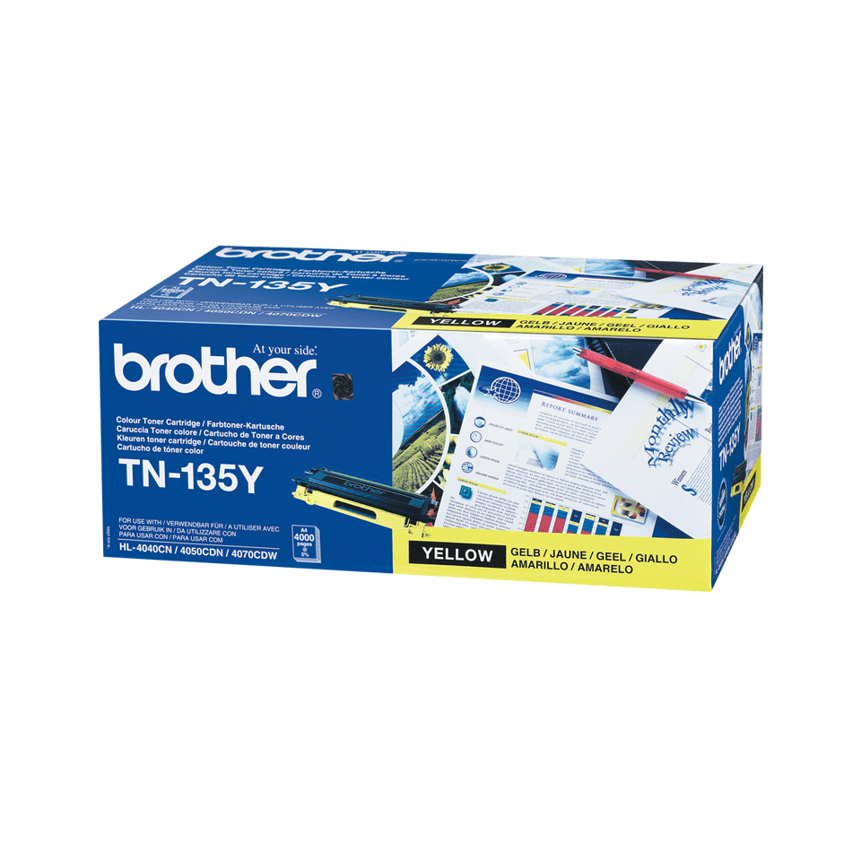Brother TN135Y original høykapasitet toner gul