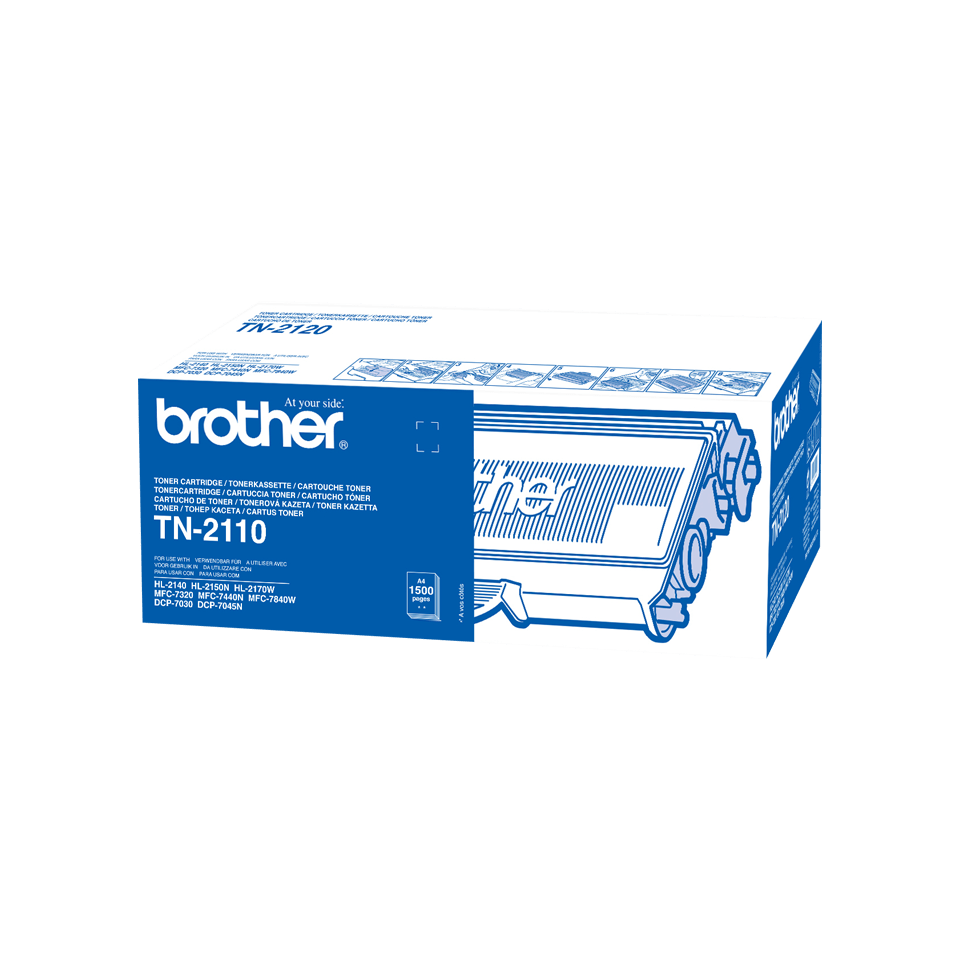 Original Brother TN2110 toner - sort