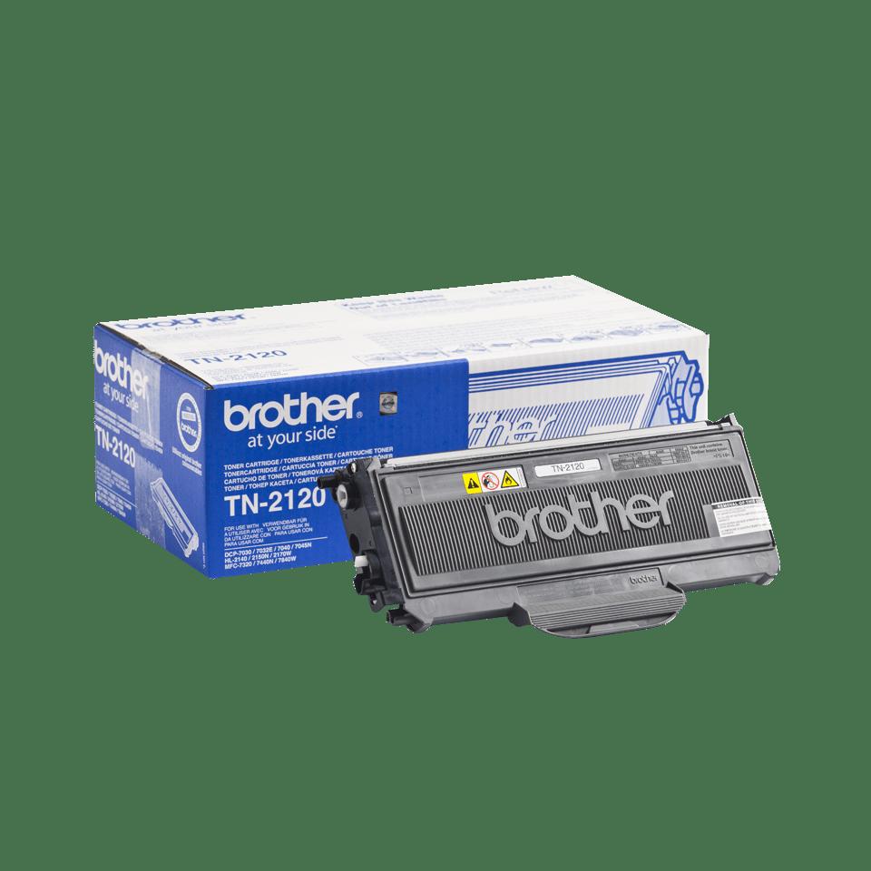 Brother TN2120 original høykapasitet toner sort 2