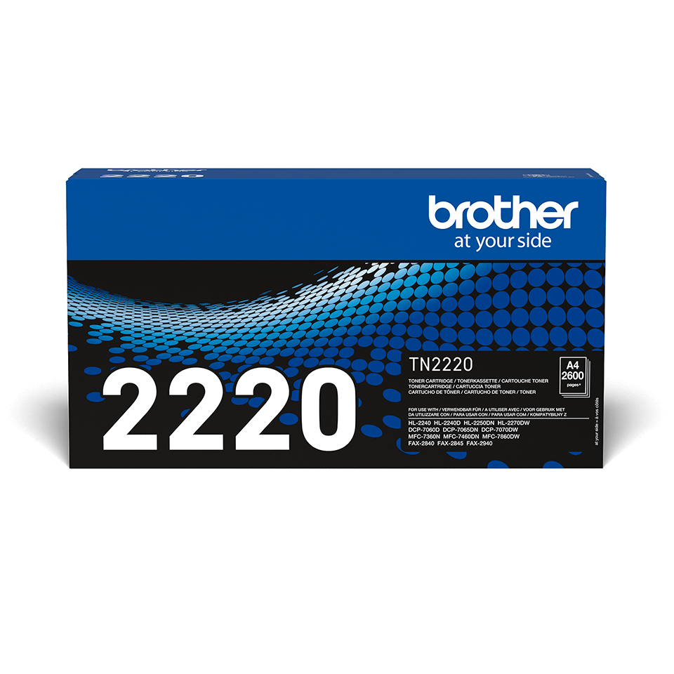 Brother TN2220 original høykapasitet toner sort