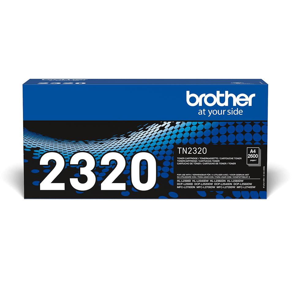 Brother TN2320 original høykapasitet toner sort