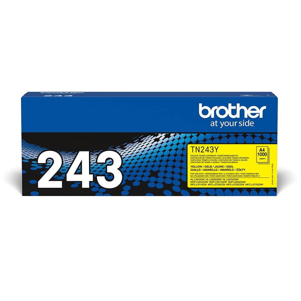 Original Brother TN243Y toner - gul 2