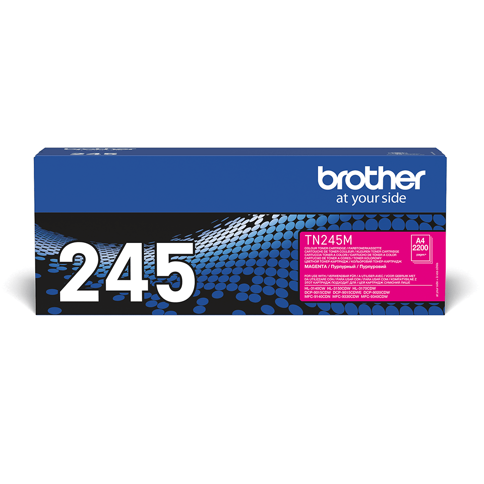 Original Brother TN245M  høykapasitet toner – magenta