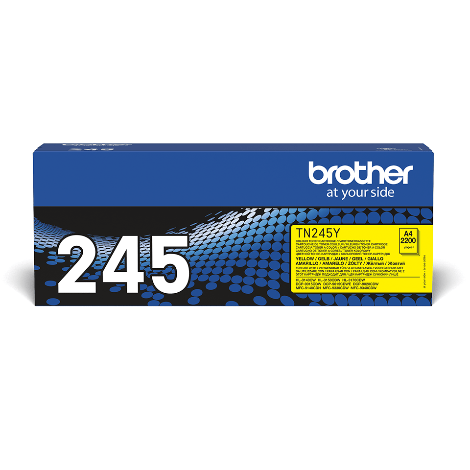 Original Brother TN245Y høykapasitet toner – gul