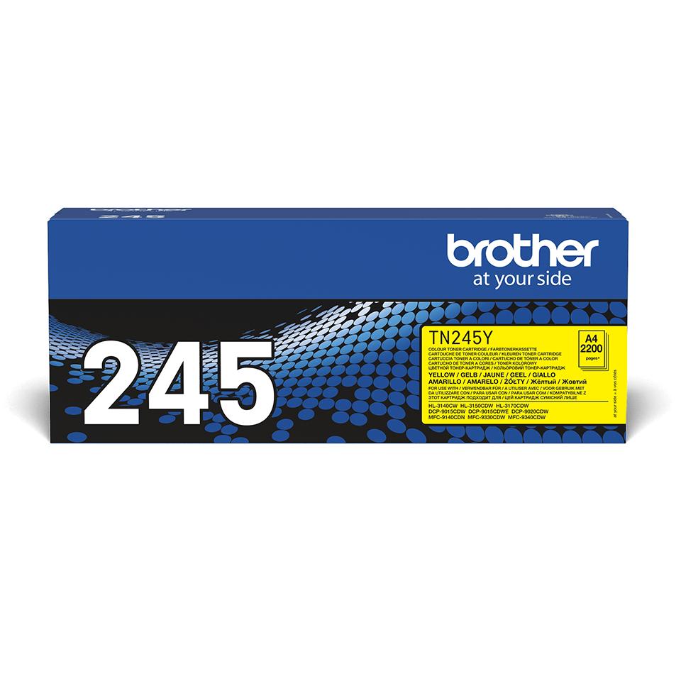 Original Brother TN245Y høykapasitet toner – gul 2