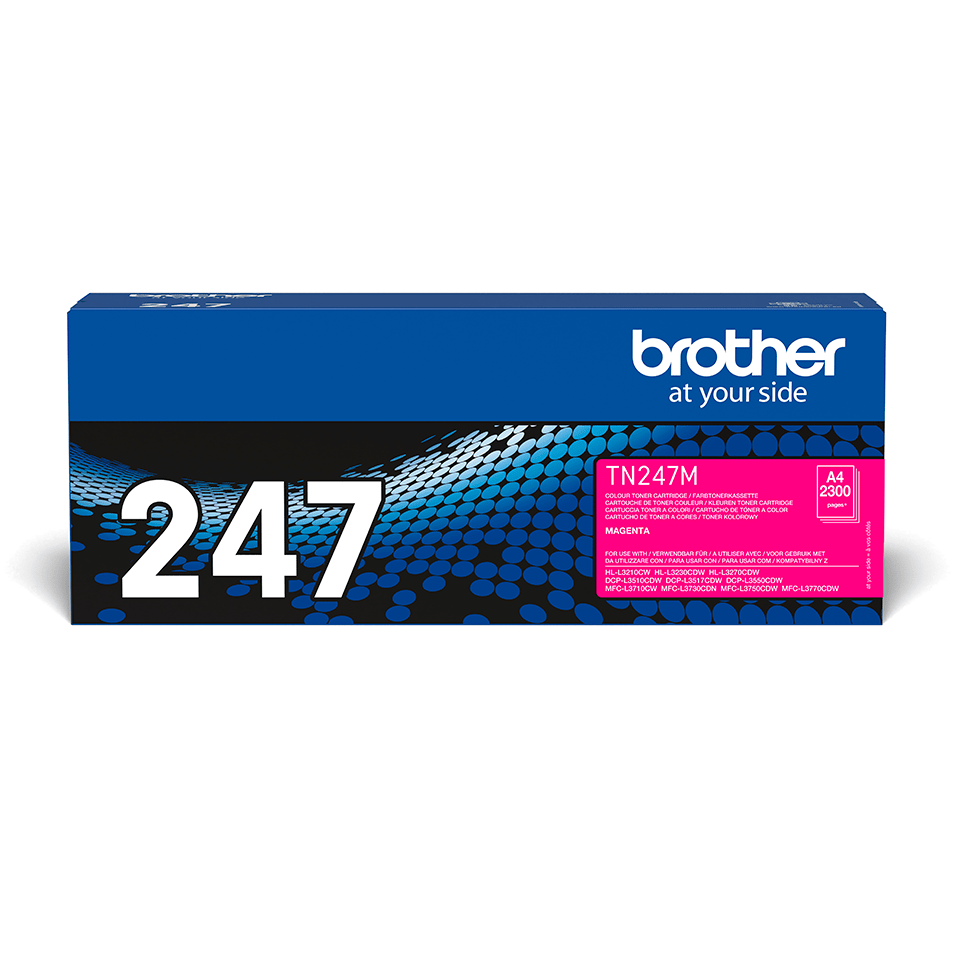 Original Brother TN247M høykapasitet toner - magenta