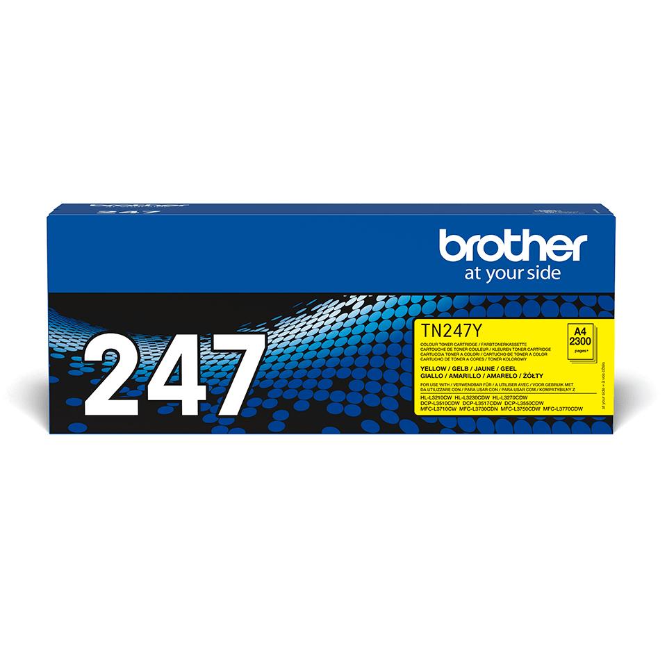 Original Brother TN247Y høykapasitet toner - gul