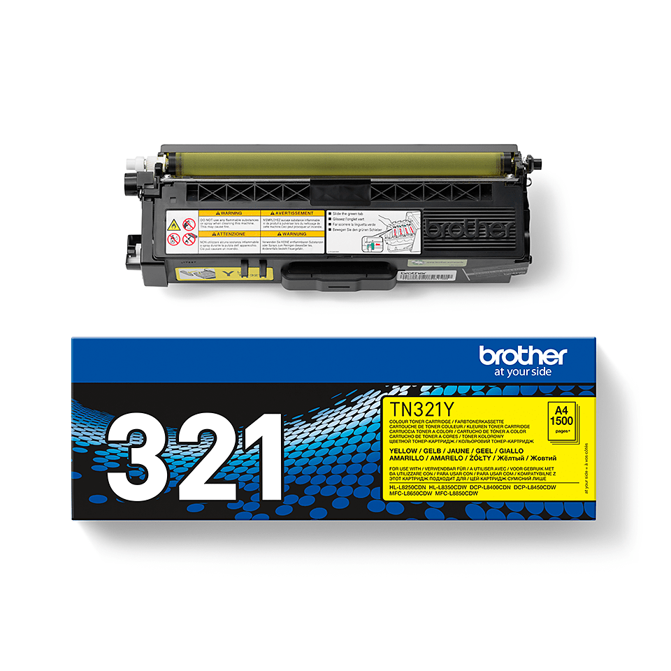 Original Brother TN321Y toner – gul  2