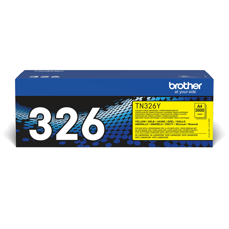 Original Brother TN326Y høykapasitet toner – gul