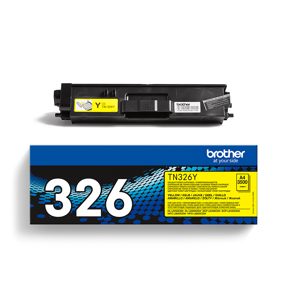Original Brother TN326Y høykapasitet toner – gul 2