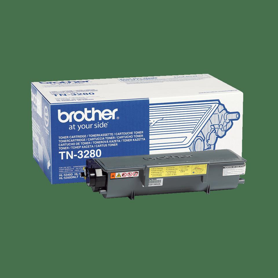 Brother TN3280 original høykapasitet toner sort