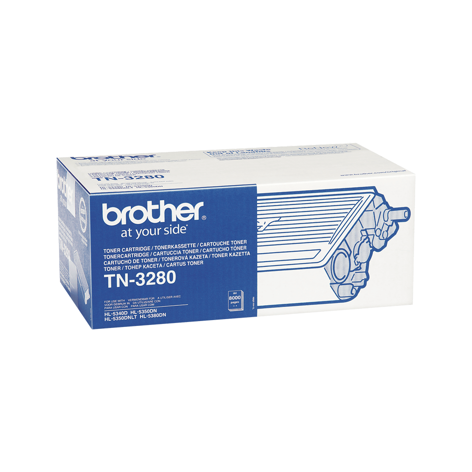 Brother TN3280 original høykapasitet toner sort 2