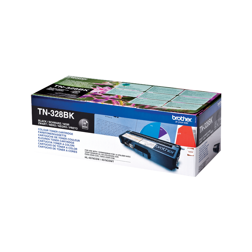 Original Brother TN328BK super høykapasitet toner – sort