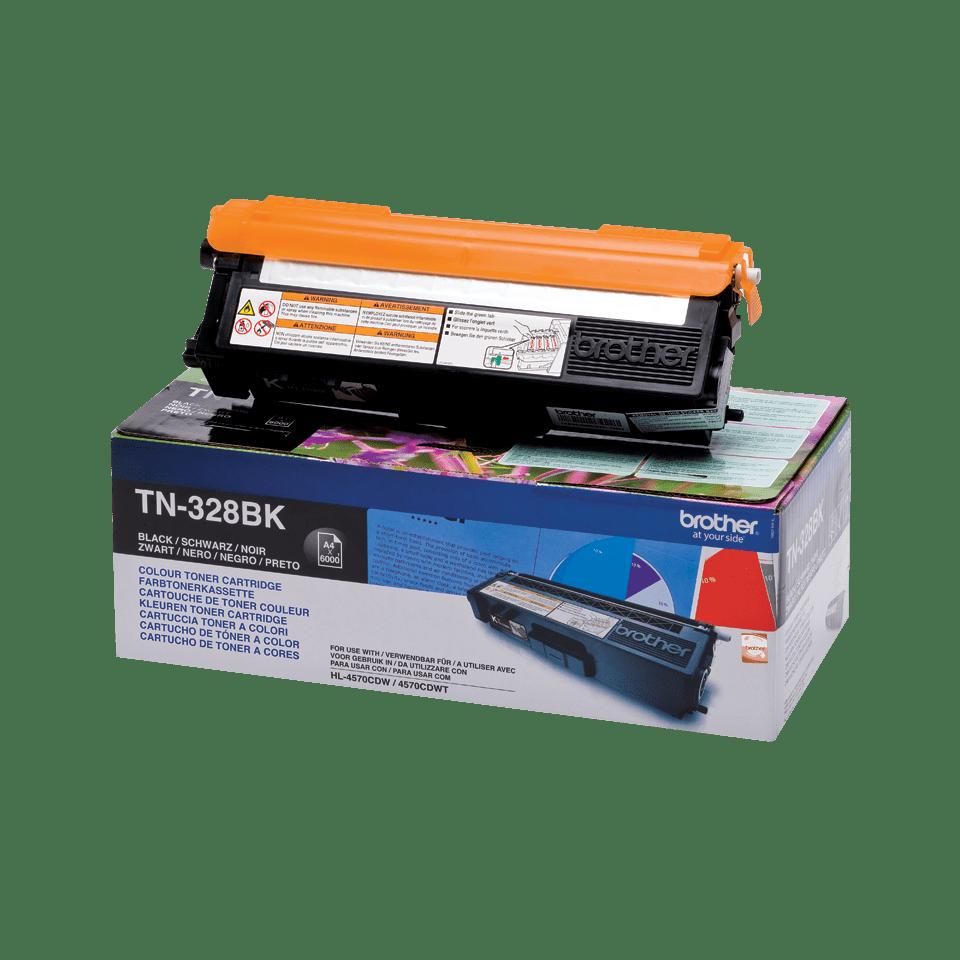 Original Brother TN328BK super høykapasitet toner – sort